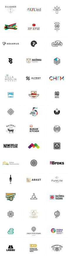 A big collection of well designed logos by Klaudia Szymańska, a Polish graphic and motion designer. This logo collection includes a variety of different logos created for diverse clients from different business fields. The list offers works based on simple lines, complex graphics, or custom letterings.