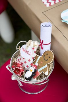 Christmas Eve Party Children's Table - Products available at Simply Sweet Soirees