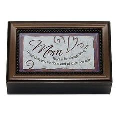 Mom decorative music box Valentine- Mothers Day Gift for Mom – Olde Church Emporium