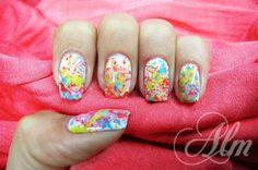 Splatter Nails ^^ by ALM - Nail Art Gallery nailartgallery.nailsmag.com by Nails Magazine - New Splatter Trend