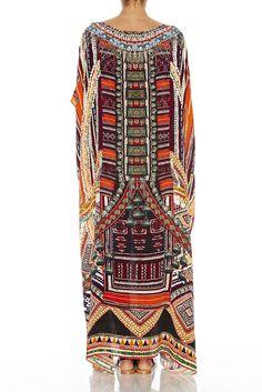 New Camilla Franks Silk Swarovski Dance of The Dao Round Neck Kaftan Dress | eBay