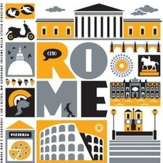 Rome art print by Taylors Type