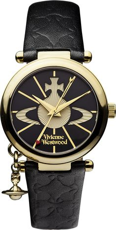 Shop for Vivienne Westwood Orb II Watch - Black. Buy a black metal watch by Vivienne Westwood online today at KJ Beckett. Official stockist of Vivienne Westwood watches. Jewelry Logo, Beaded Jewelry, Jewelry Watches, Vivienne Westwood Watches, Vivienne Westwood Jewellery, Or Noir, Gold Hands, Gold Logo, Watch Sale