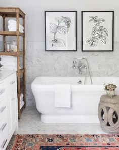 Bathroom decor for your master bathroom renovation. Learn bathroom organization, master bathroom decor tips, bathroom tile ideas, master bathroom paint colors, and more. Bad Inspiration, Bathroom Inspiration, Bathroom Ideas, Bathroom Storage, Bathroom Designs, Bathroom Renovations, Decorating Bathrooms, Bathroom Shelves, Towel Storage
