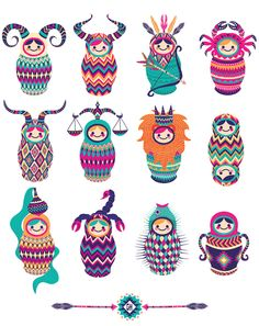 Zodia Nesting Dolls design - Zodiac 2014 on Behance