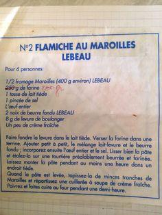The tarte au maroilles