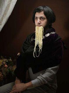 Spaghetti-Slurping Photos - Alison Brady's Gluttonous Baroque Portraits are Compelling (GALLERY)
