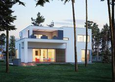 DOM.PL™ - Projekt domu ED E-137 CE - DOM ED1-37 - gotowy koszt budowy Home Fashion, House Plans, Villa, Mansions, House Design, House Styles, Home Decor, Inspiration, Two Story Houses