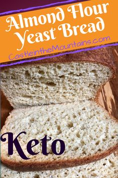 Almond Bread, Almond Flour Recipes, Almond Flour Bread Recipe With Yeast, Paleo Yeast Bread, Coconut Flour Bread, Bread Food, Recipes With Yeast, Low Carb Recipes, Milk Recipes