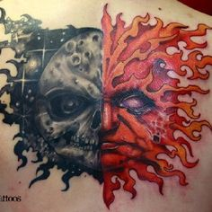 Badass ! Paul booth remake of piece he did on Corey Taylor of slipknot/stone sour