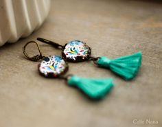 Boucles d'oreilles de style boho chic : Boucles d'oreille par callenana