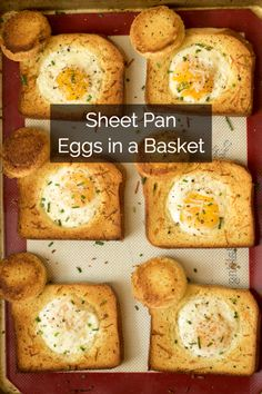 Cheesy Baked Egg Toast - Quick, fast and easy breakfast recipe ideas for a cr. What's For Breakfast, Breakfast Items, Breakfast Dishes, Breakfast Recipes, Breakfast Casserole, Brunch Recipes, Dinner Recipes, Recipes For Eggs, Dessert Recipes