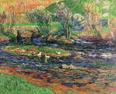 the old bridte over the aven,finistere_Henry Moret