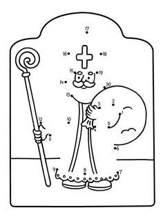 Sinterklaas is Jarig - Kleurplaat Sinterklaas ist Jarig - Malvorlagen English Primary School, St Nicholas Day, Winter Kids, Christmas Crafts For Kids, Kindergarten Activities, Diy For Kids, Advent, Coloring Pages, Prints