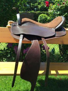 western saddle - Treeless leather western saddle trail barrel racing top quality