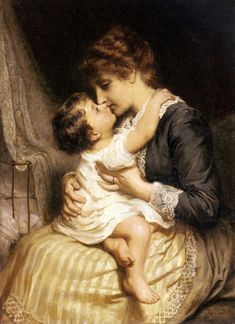 Motherly Love ~ Frederick Morgan~English Painter 1847-1927 ~ Art And Victorian Painters
