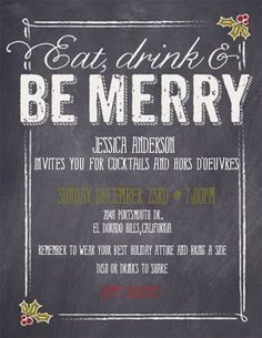 My 2012 Christmas Party invites