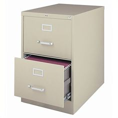 "Features: Commercial vertical 2 drawer legal filing cabinet; Legal Size; Precision steel ball-bearings provide the ultimate in smooth and quiet drawer performance; High-side drawers accept hanging file folders. Specifications: Overall Product Dimensions: 28.38"" H x 18"" W x 25"" D;... more details available at https://furniture.bestselleroutlets.com/home-office-furniture/file-cabinets/vertical-file-cabinets/product-review-for-2-drawer-commercial-legal-size-file-c"