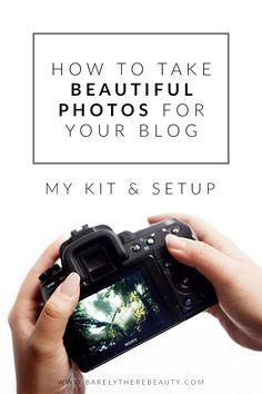 Blog Photography tips // my kit and setup