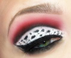 Rock a bold dalmatian print eye look inspired by the iconic Disney movie 101 Dalmations!