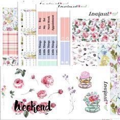 English Garden| planner sticker kit erin condren planner stickers| happy planner sticker kit| quote stickers |sticker weekly kit | SK005