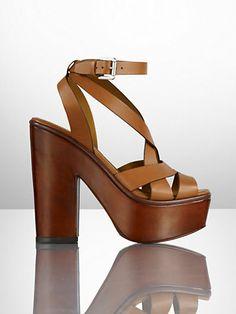 Alecia Calf Platform Sandal - Collection Shoes   Shoes - RalphLauren.com