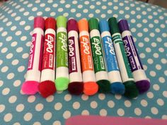 Love this put a Pom Pom on an expo marker and use as an eraser