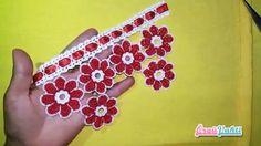 Çiçek Bahçesi Motifli Havlu Kenarı Yapılışı Videolu Anlatımlı #havlukenarıörnekleri #kadın #çeyizlik #towellace #handtuchspitze #handmade