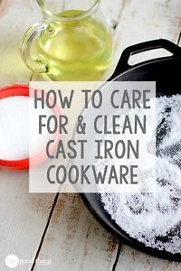 "Cast iron cookware is great for everything from pan-searing steaks to baking berry cobbler. I even turn mine upside down and use it in the oven as a ""pizza stone."" I love my cast iron skillets because..."