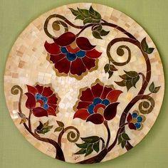 Mosaic Tile Art, Mosaic Artwork, Mirror Mosaic, Mosaic Diy, Mosaic Crafts, Mosaic Projects, Mosaic Glass, Mosaic Flowers, Stained Glass Flowers