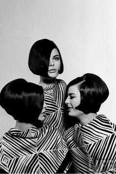 The Dee Triplets, Megan, Christina and Katha, 1964  Nina Leen
