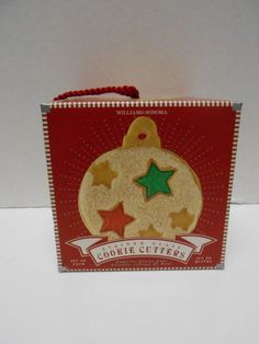 Williams Sonoma Stained Glass Christmas Cookie Plunger Cookie Cutters NIB Set 4 #WilliamsSonoma