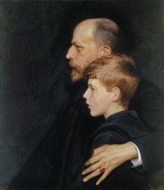 ALBERT EDELFELT  Portrait of Pietro ja Mario Krohnin (1894)