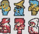 Patterns pertaining to Final Fantasy. Sprites, Final Fantasy, Finals, Fandoms, Crafts, Manualidades, Fairies, Final Exams, Handmade Crafts