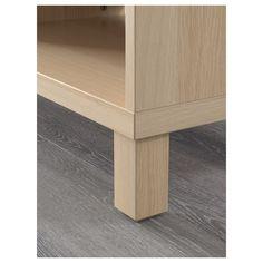 BESTÅ Cabinet unit, white stained oak effect, cm - Shop today - IKEA Living Room Tv Cabinet, Ikea Living Room, Living Rooms, Besta Tv Bank, Ikea Tv Unit, Light Gray Cabinets, Tv Bench, Frame Shelf, Tv Unit Design