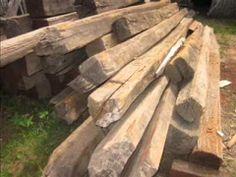 Kayu Ulin bekas tiang listrik seharga ratusan ribu