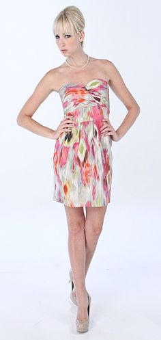 The perfect dress for almost anything! Featuring sweetheart neckline and empire waist for a slimming effect. Beautiful bow in back is the perfect accent for this piece, Inset boning will keep you supported and the gorgeous array of colors will make you the envy of all!  Rent for $50.00