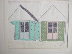 Steph Littlechild Mixed Media Textile Art: Handcrafted and Vintage Market this weekend! Vintage Market, Textile Art, Textiles, Stitch, Mixed Media, Holiday Decor, Frame, Houses, Inspiration