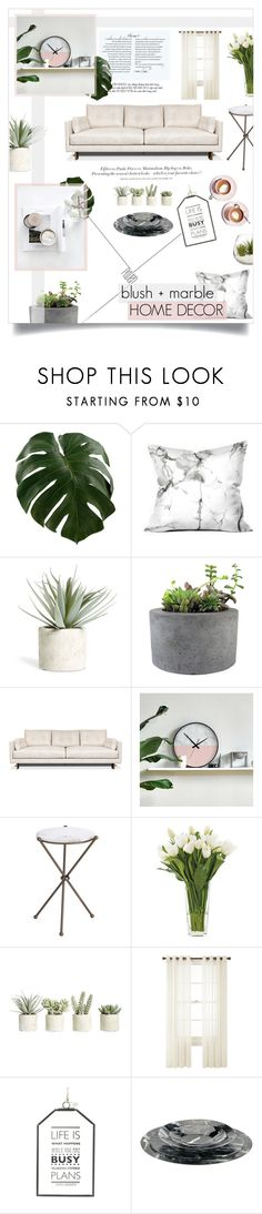 """""""Untitled #65"""" by rennss ❤ liked on Polyvore featuring interior, interiors, interior design, home, home decor, interior decorating, Allstate Floral, Rough Fusion, Jonathan Adler and Martha Stewart"""