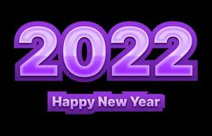Free Purple and Black New Year Background 2022
