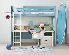Litera con zona de trabajo de muebles infantiles Asoral