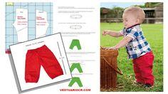 Patrón pantalón bebe 0 a 1 años gratis | molde Bermuda, capri, short | ropa bebe