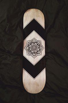 hand-designed skateboard deck
