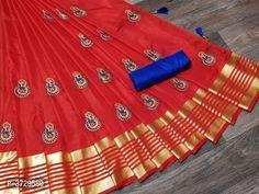 Description: It has 1 Piece of Saree and 1 Piece of Blouse Fabric: Saree: Sana Silk , Blouse: Banglori Silk Length: Saree: Mtr, Blouse: Mtr Work: Saree: Embroidered, Blouse: Solid South Indian Sarees, Indian Sarees Online, Simple Sarees, Trendy Sarees, Online Shopping Sarees, Online Fashion Stores, Soft Silk Sarees, Cotton Saree, Organza Saree