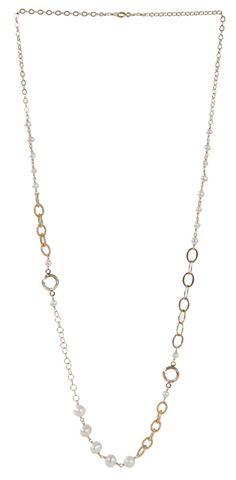 Coco Necklace in Diamond $148 #swarovski #pearls #jewelry
