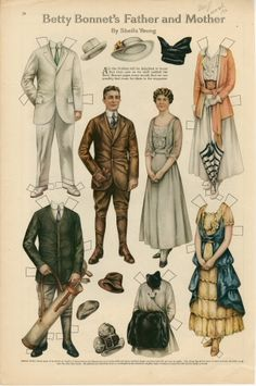 75.2910: Betty Bonnet's Father and Mother   paper doll   Paper Dolls   Dolls   National Museum of Play Online Collections   The Strong