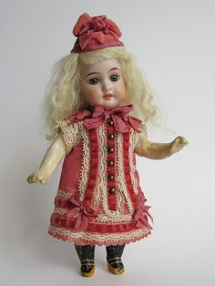 Tiny Dress and Hat for Antique French or German Doll | eBay