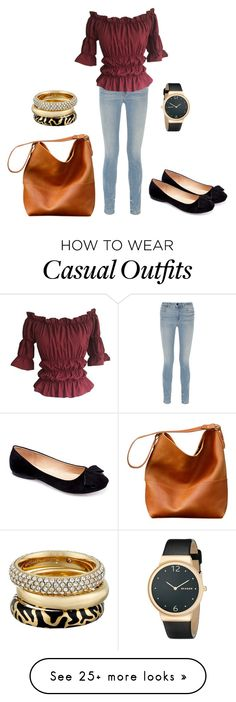 """""""outfit casual"""" by abbygirly on Polyvore featuring Alexander Wang, Machi, Skagen and Michael Kors"""