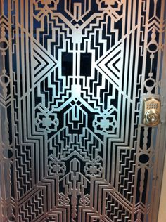 Pattern - Art Deco Iron Door, reminds me of the great gatsby! Motif Art Deco, Art Deco Pattern, Art Deco Design, Art Nouveau, Art Deco Period, Art Deco Era, Do It Yourself Inspiration, Design Inspiration, Art Deco Door