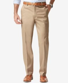 e537b9f9348 Dockers Men s Stretch Classic Fit Signature Khaki Pants D3 - Tan Beige  32x30 Stylish Mens